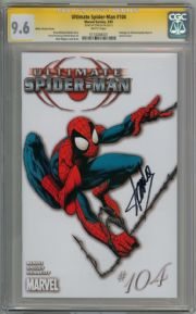 Ultimate Spider-man  #104 White Variant CGC 9.6 Signature Series Signed Stan Lee  Marvel comic